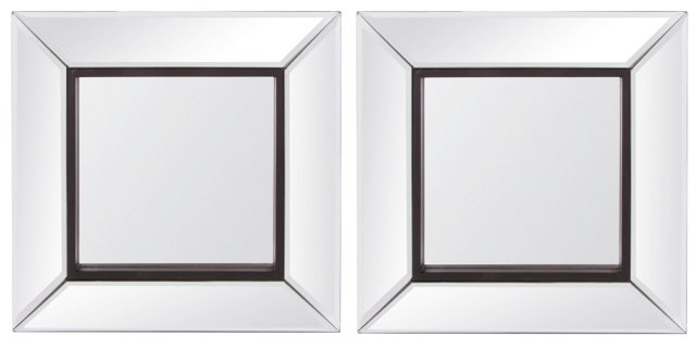 Ashton Accent Mirror, Set of 2, Black