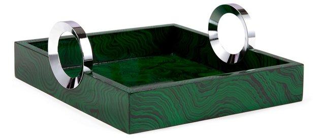 """11"""" Malachite-Painted Tray"""