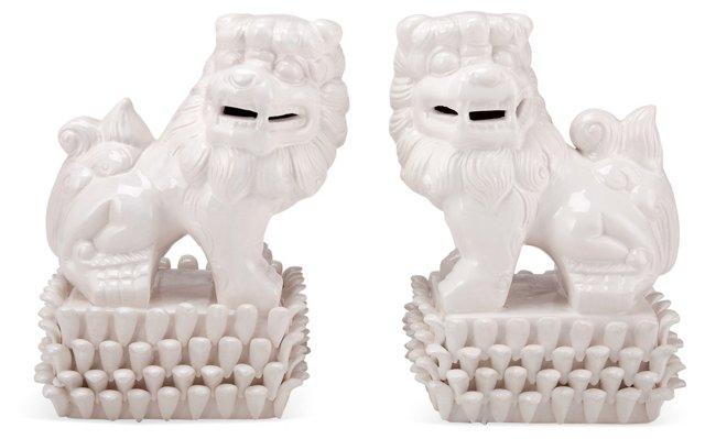 Asst. of 2 Foo Dogs, White