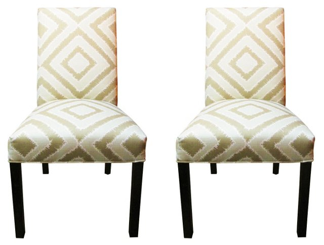 Beige Kayla Side Chairs, Pair