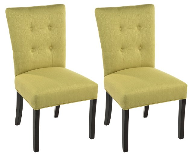 Ivy Rebecca Side Chairs, Pair