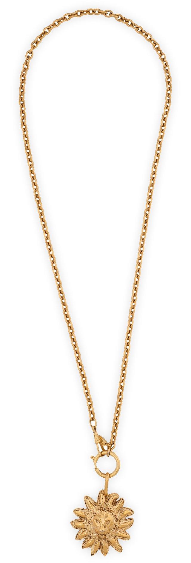 Chanel Sun Pendant Necklace