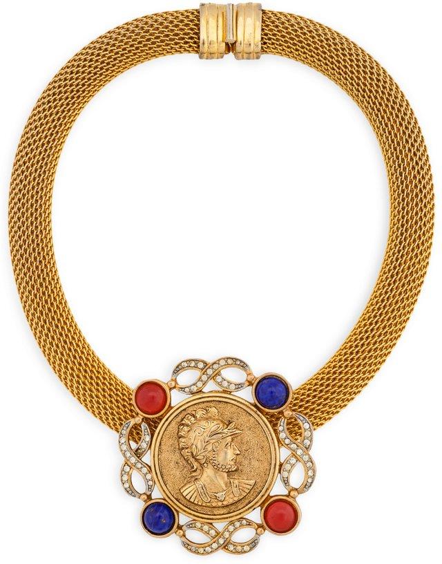 Vintage Pierre Balmain Coin Necklace