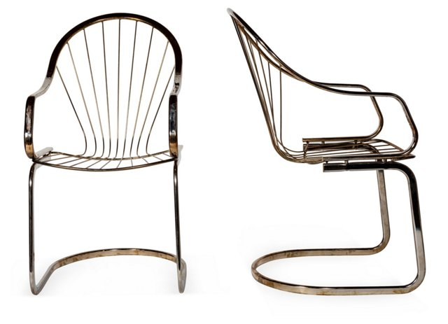Chrome Chairs, Pair