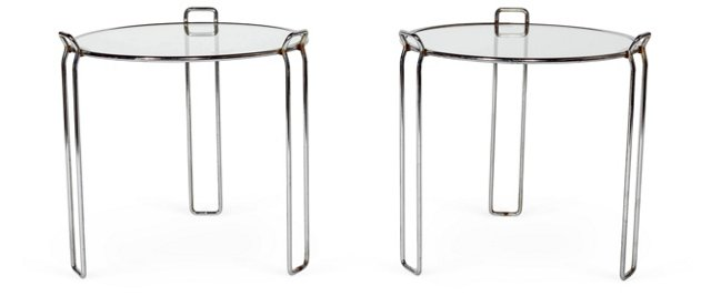 1970s Stacking Tables, Pair