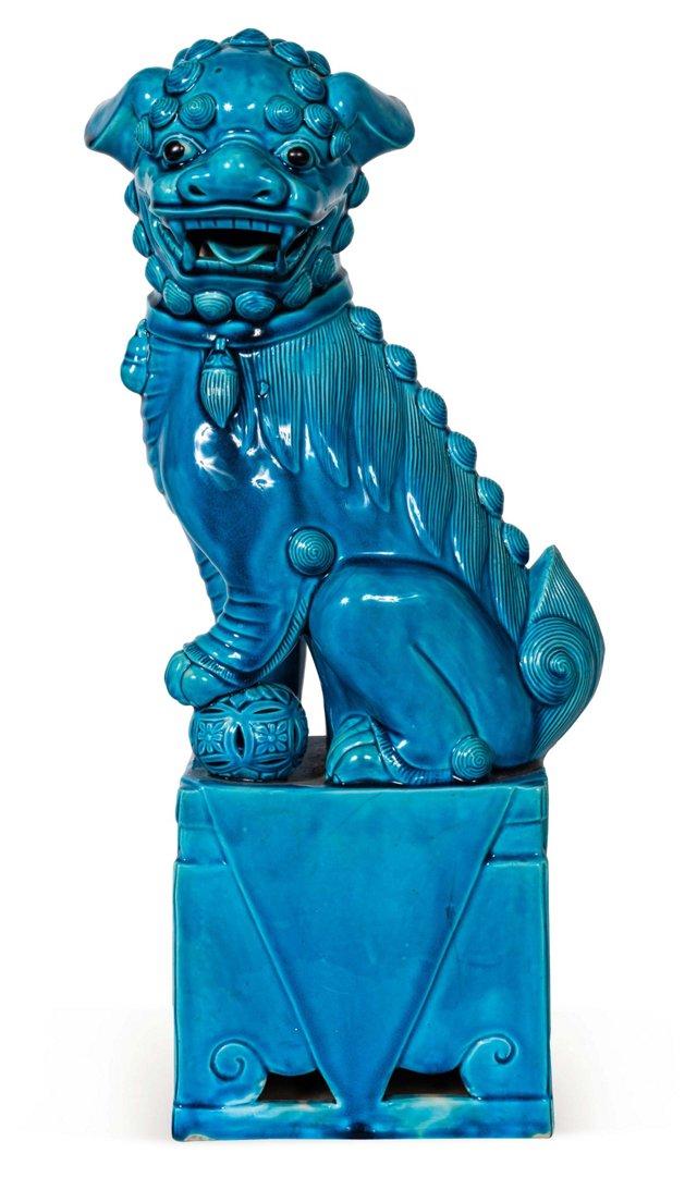 Vintage Turquoise Foo Dog