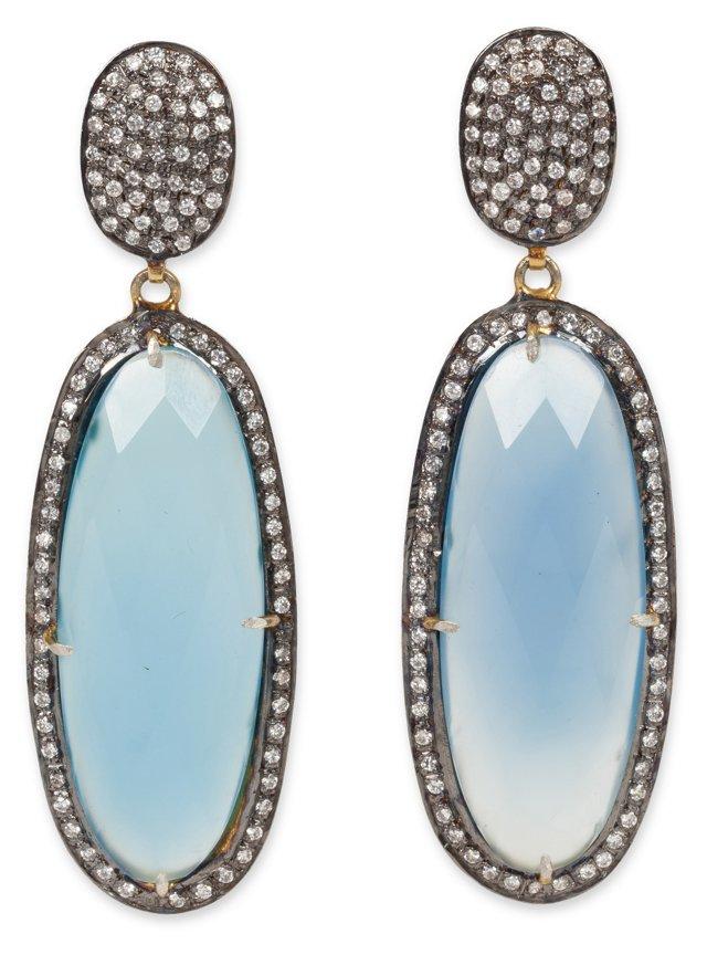 Onyx Faceted Drop Earrings