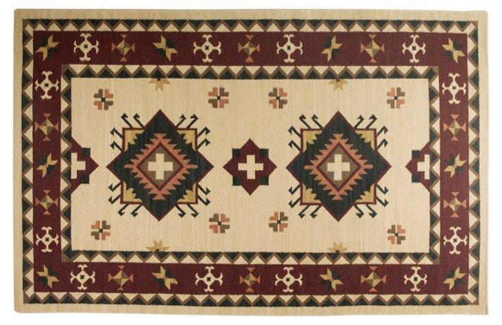 Mansi Flat-Weave Rug, Cream/Multi