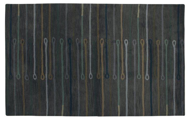 Tellado Rug, Charcoal/Multi