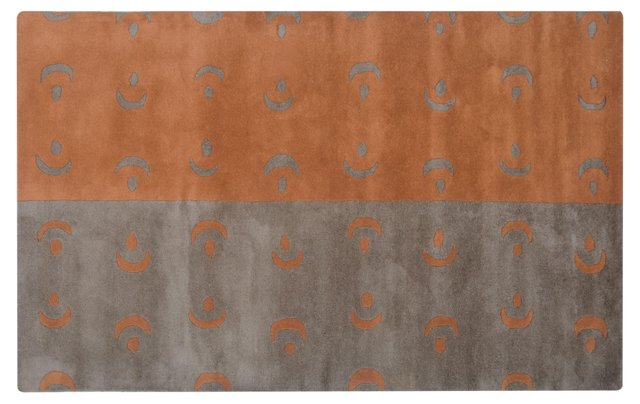 Horatio Rug, Gray/Orange