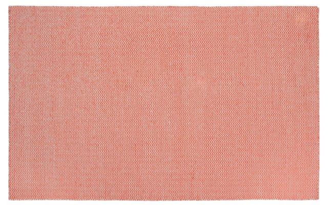 Gardner Flat-Weave Rug, Rust