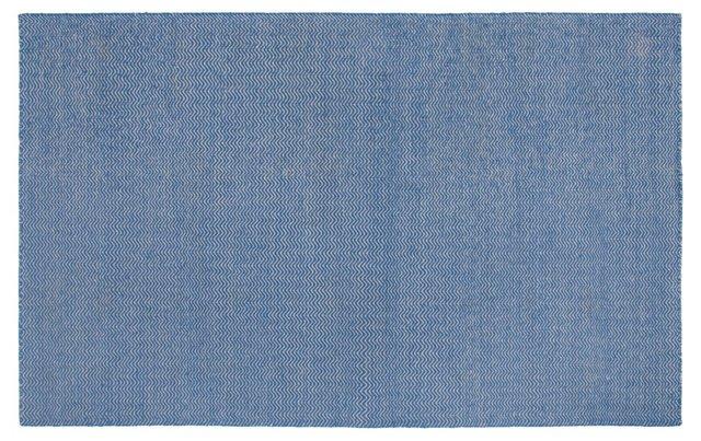 Gardner Flat-Weave Rug, Blue