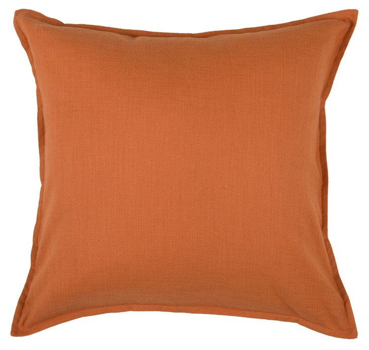 S/2 Solid 20x20 Pillows, Burnt Orange