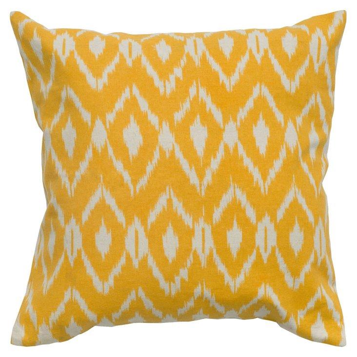 S/2 Diamond 18x18 Cotton Pillows, Yellow