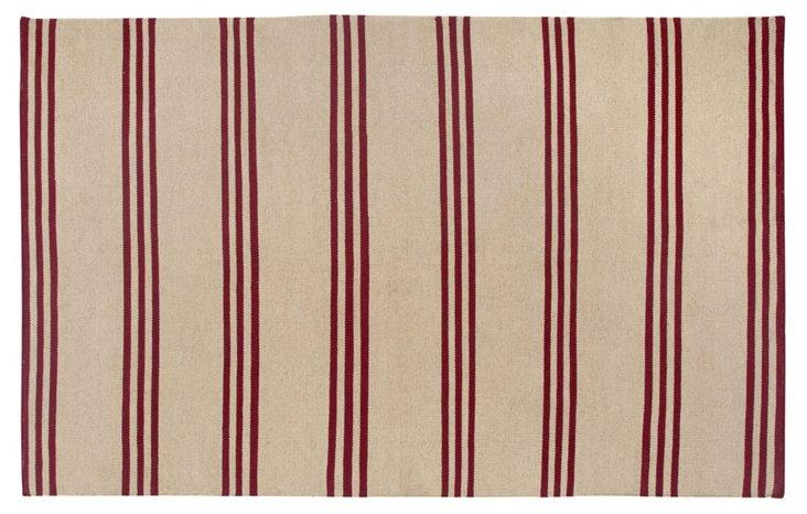 Classia Flat-Weave Rug, Red