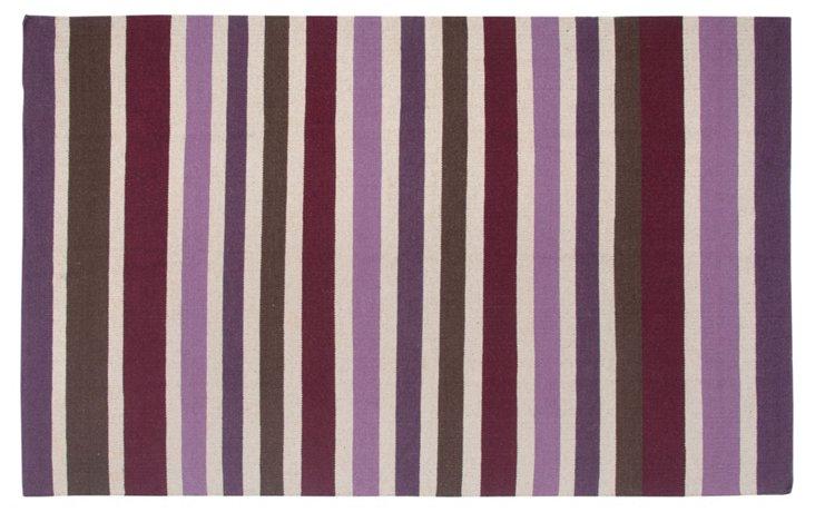 Melody Flat-Weave Rug, Plum