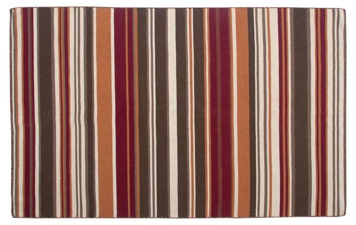Heigi Flat-Weave Rug, Brown