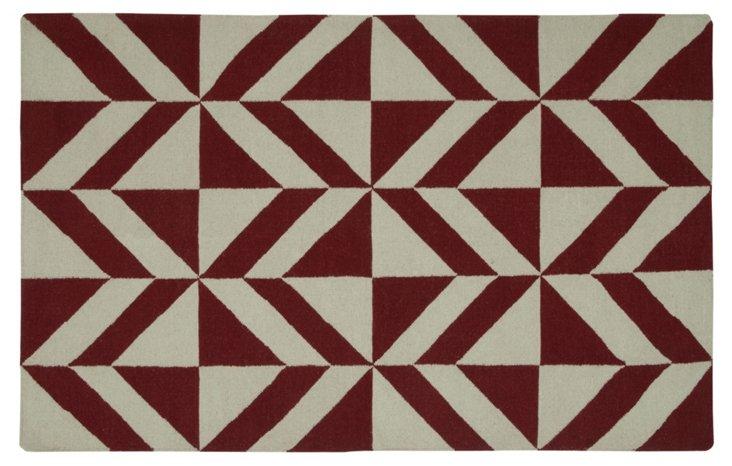 Raymon Flat-Weave Rug, Red