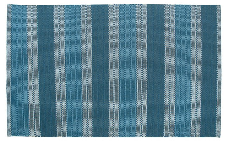 Sam Flat-Weave Rug, Blue