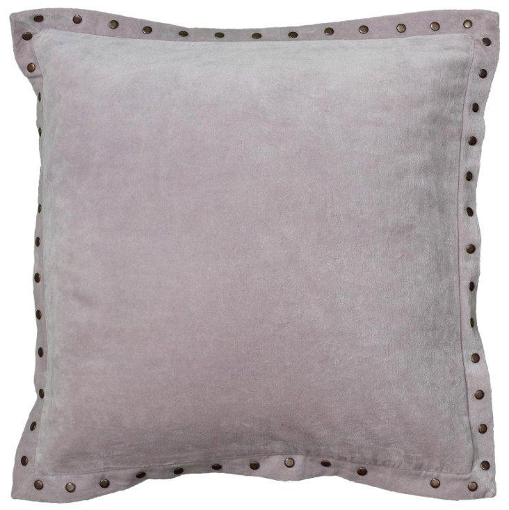 Payton 18x18 Velvet Pillow, Purple