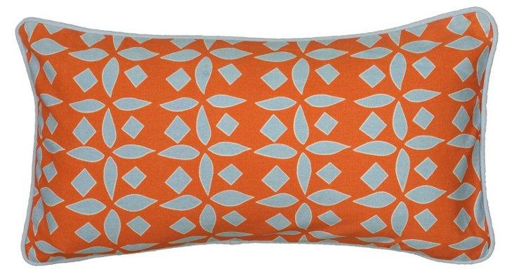 Kate 11x21 Cotton-Blended Pillow, Orange