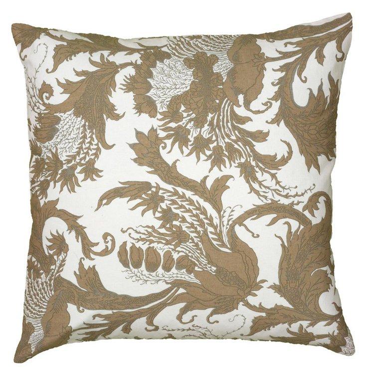Mae 20x20 Cotton Pillow, Beige