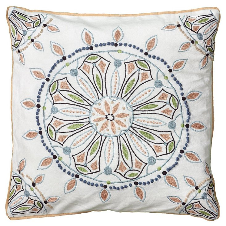 Compass 20x20 Cotton Pillow, Multi