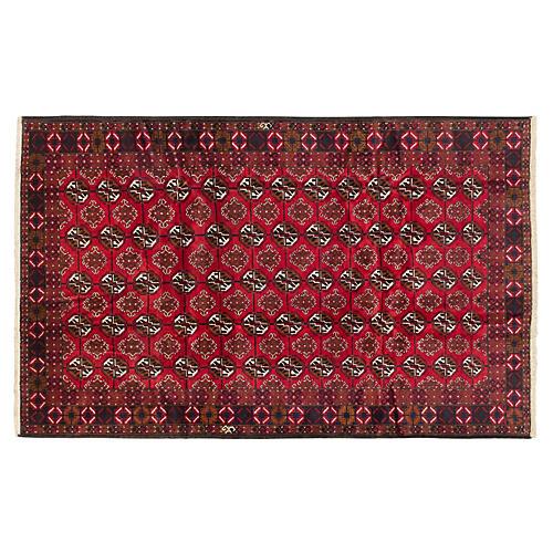 6'x10' Khal Mohammadi Rug, Red