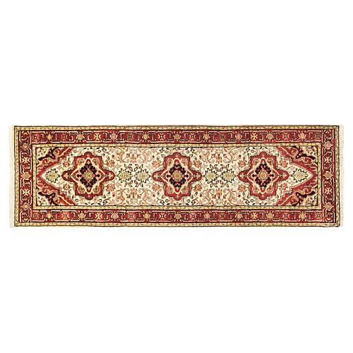 3'x8' Serapi Heritage Rug, Cream/Red
