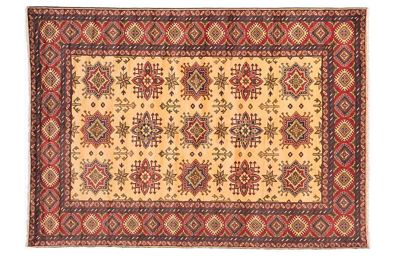 7'x10' Finest Kargahi Rug, Light Gold