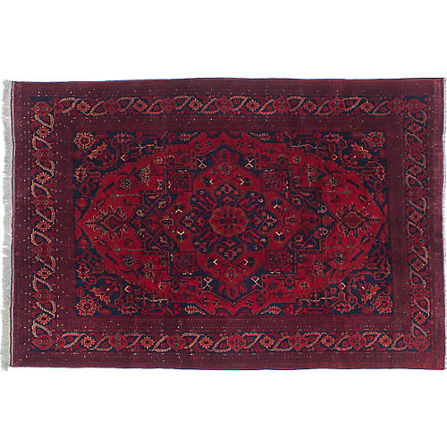 "6'5""x9'9"" Khal Mohammadi Rug, D. Red/Red"