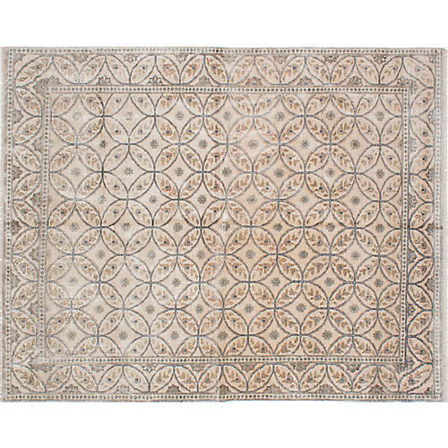 "7'10""x9'9"" Jules Oushak Rug, Cream/Brown"