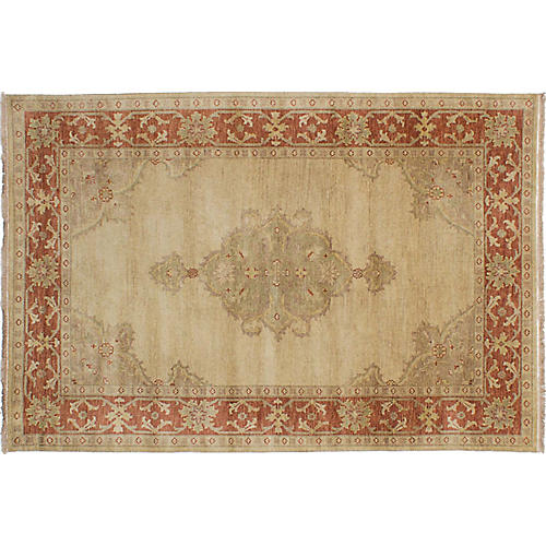 "5'7""x8'5"" Jules-Sultane Hand-Knotted Rug, Beige"