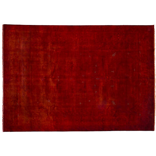 "10'x14'2"" Transition Hand-Knotted Rug, Wine"
