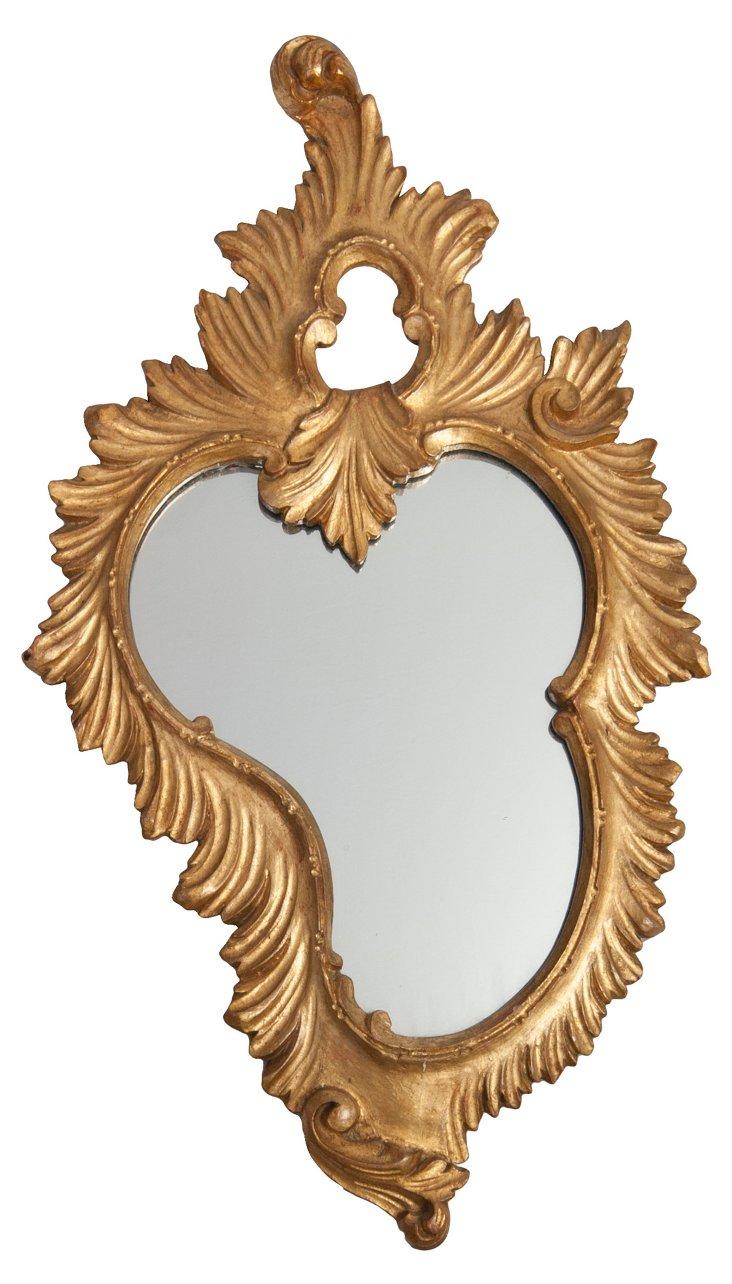 1940s Italian Giltwood Mirror