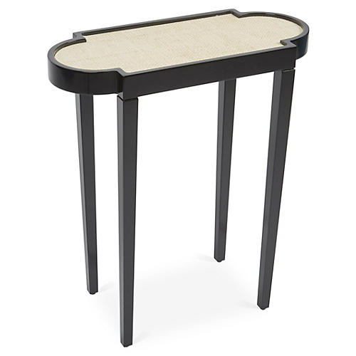 Tini II Side Table, Black/White