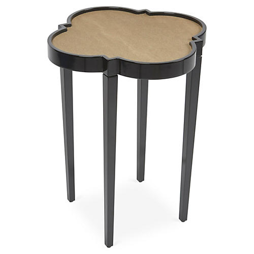 Tini IV Side Table, Black/Brown Shagreen