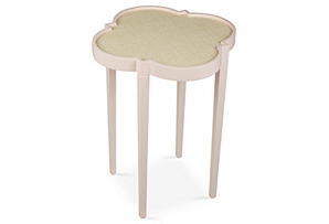 Tini IV Side Table, Pale Pink/White