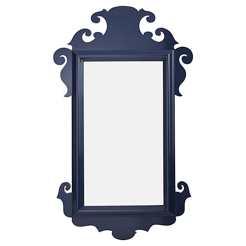 Charleston Wall Mirror, Navy