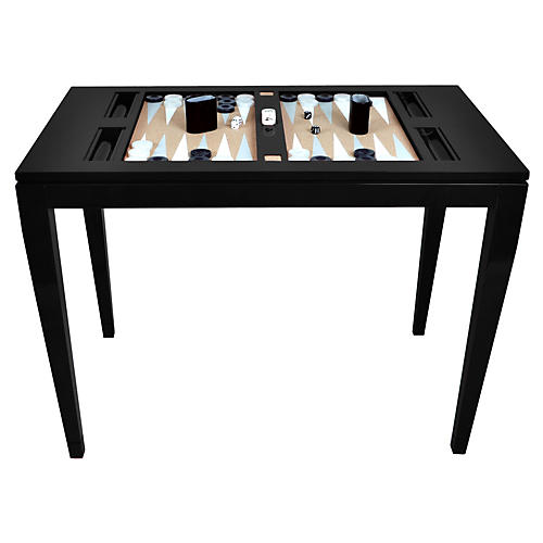 Backgammon Game Table, Black