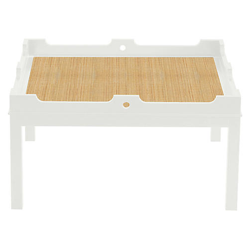 Fairfield Coffee Table, White/Natural