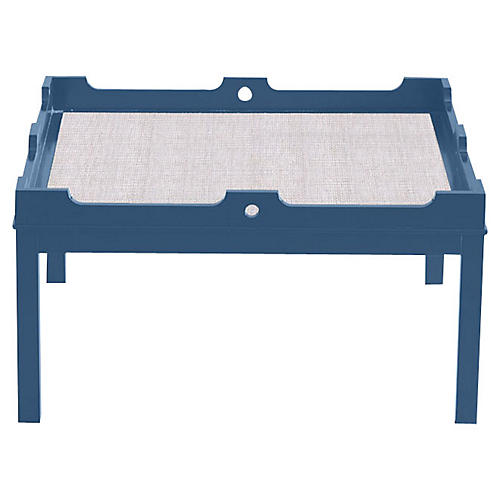 Fairfield Coffee Table, New York Blue/White
