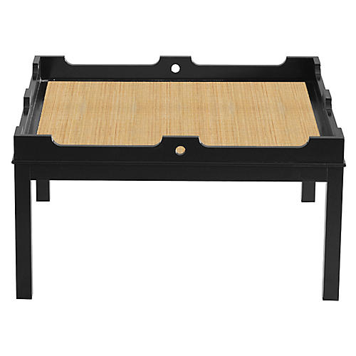 Fairfield Coffee Table, Black/Natural