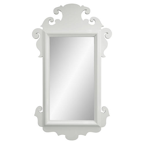 Charleston Wall Mirror, White