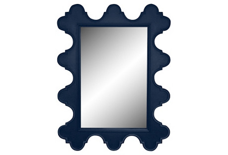 Easton Wall Mirror, Navy