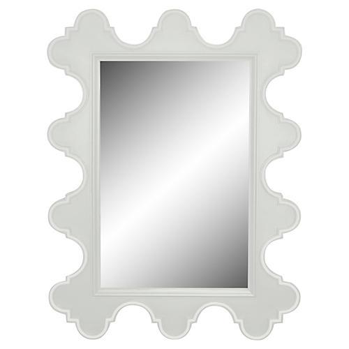 Easton Wall Mirror, White