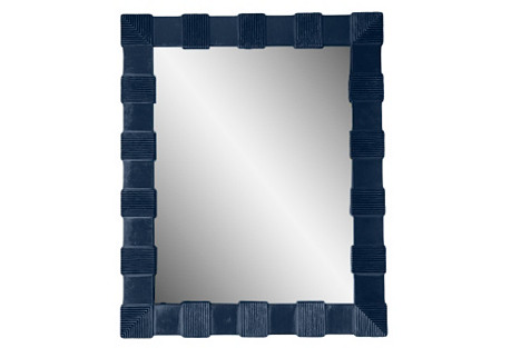 Palm Beach Wall Mirror, Navy