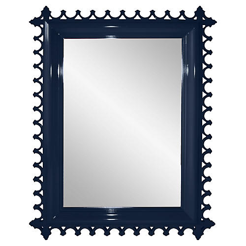 Newport Wall Mirror, Navy