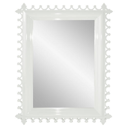 Newport Wall Mirror, White