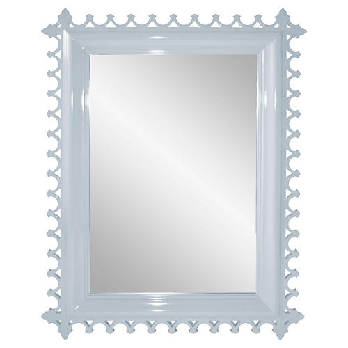 Newport Wall Mirror, Hinting Blue